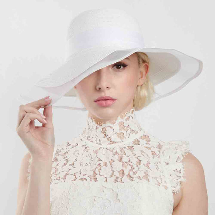 Classic Braid Hat with Tulle Edge Brim - Something Special