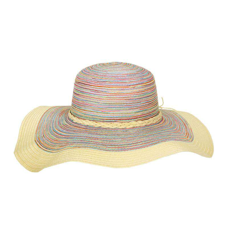Multicolor Floppy Hat with Braided Twine - SetarTrading Hats