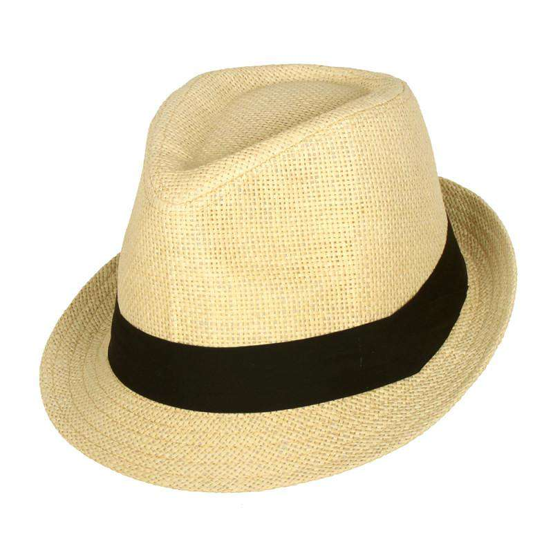 55a72a1d52c Traditional Summer Straw Fedora - SetarTrading Hats