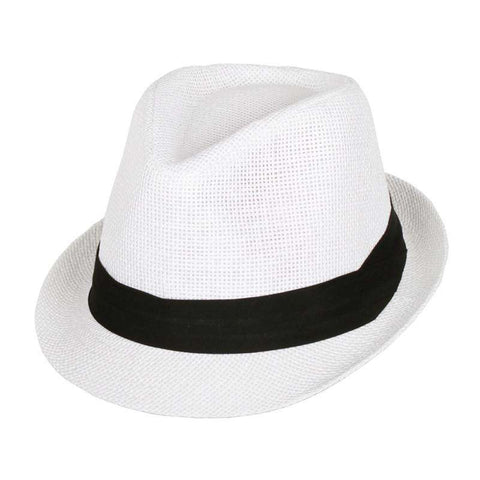 Traditional Summer Straw Fedora