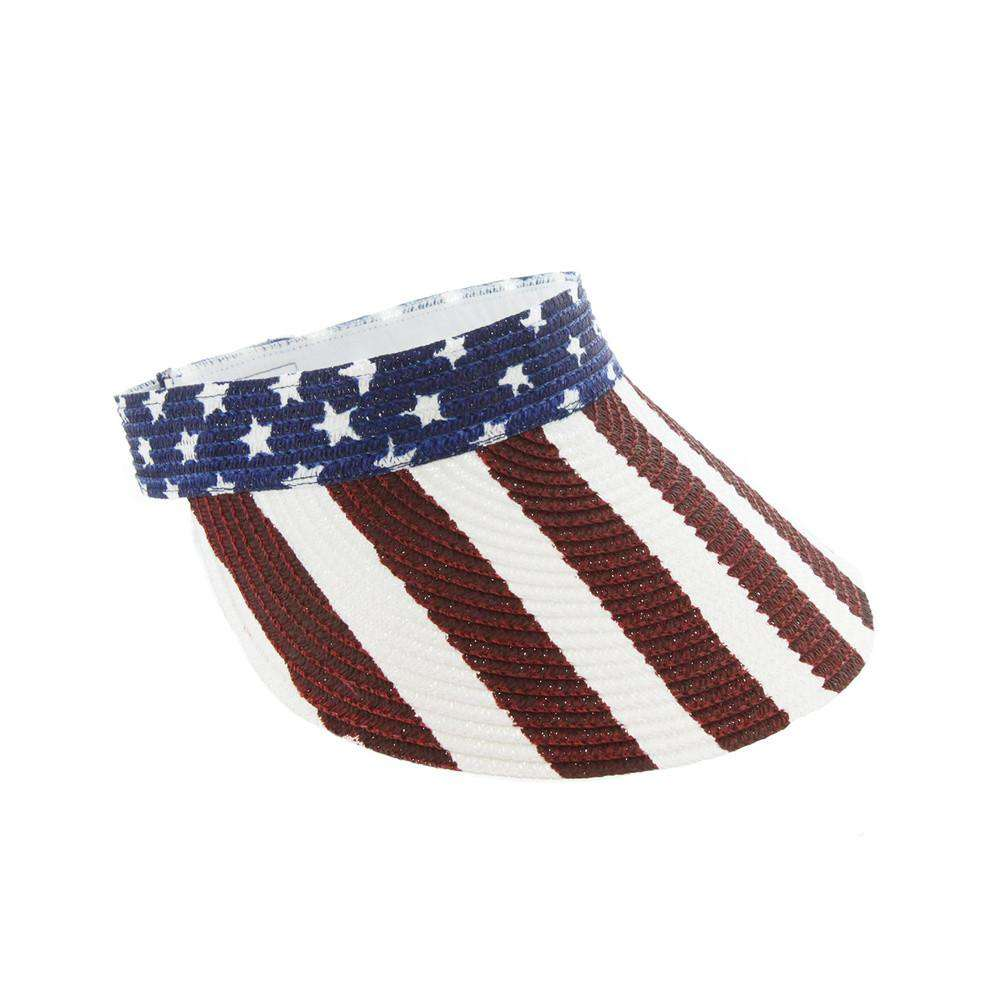 Stars and Stripes Sun Visor - SetarTrading Hats