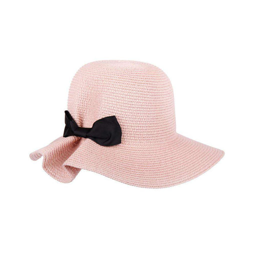 Summer Cloche Hat with Ribbon Bow - SetarTrading Hats