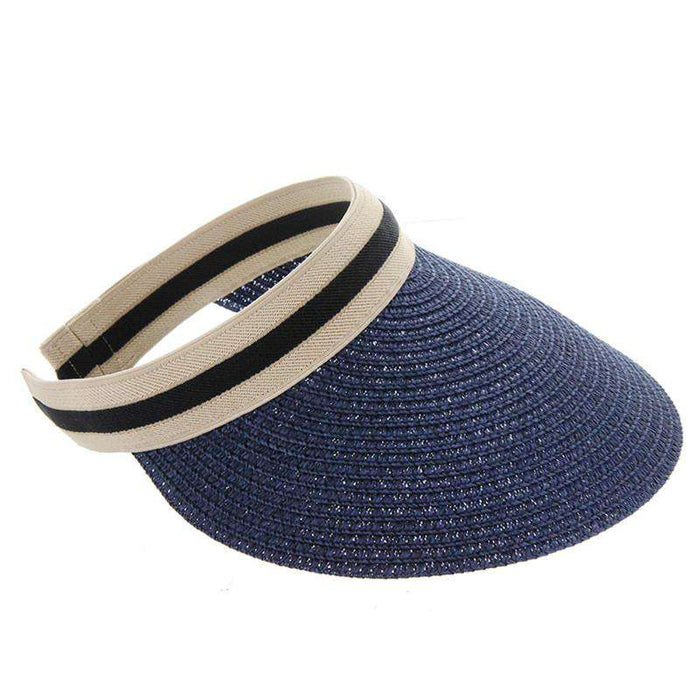 Clip On Sun Visor with Elastic Comfort Band - SetarTrading Hats