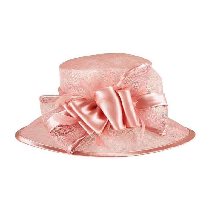 Sinamay Dress Hat with Satin Bow