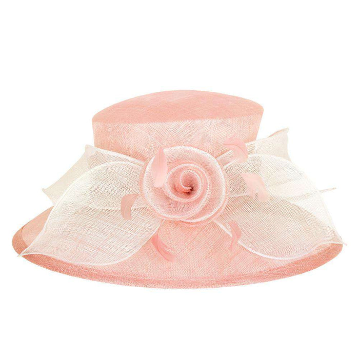 Sinamay Hat with Rose and Bow - SetarTrading Hats