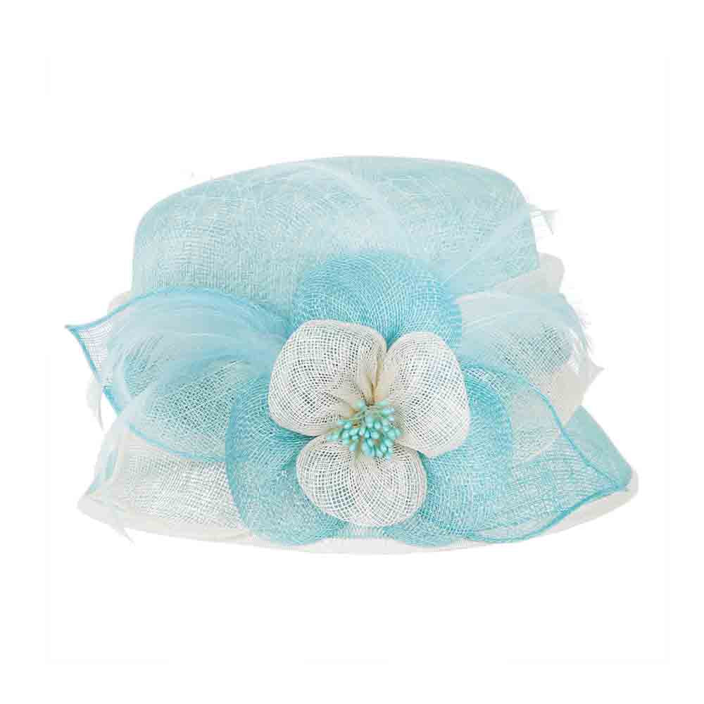 Small Sinamay Cloche Dress Hat with Flowers - Something Special