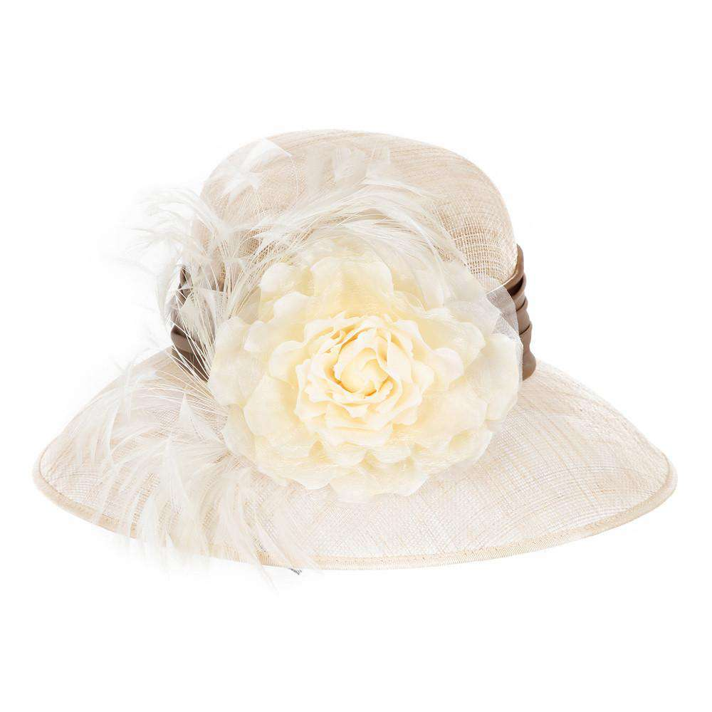 Caramel Tiffany Sinamay Hat - SetarTrading Hats