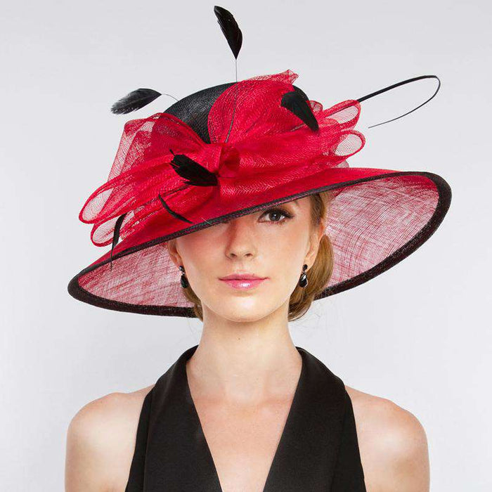 Large Sinamay Bow Two Tone Dress Hat - Something Special Hat Collecion