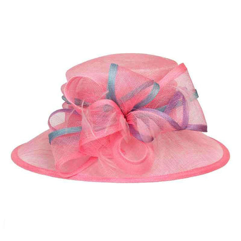 Sinamay Dress Hat with Contrast Edge Loops