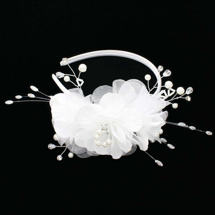 Flower and Pearl Head Band - SetarTrading Hats