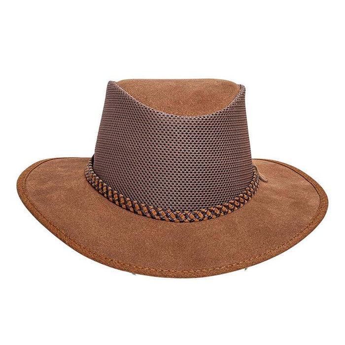 Head'N Home Monterey Breezer SolAir Suede Leather Hat up to 3XL- Bark
