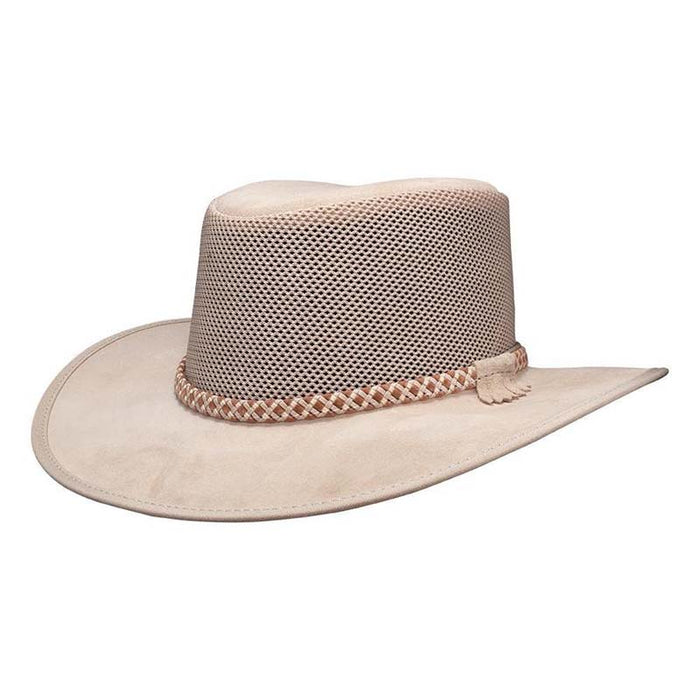 Head'N Home Monterey Breezer SolAir Suede and Mesh Shade Hat up to 3XL - Latte