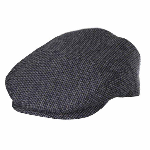 Houndstooth Lined Flat Cap - Dorfman Pacific Hat