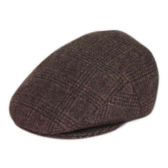 Plaid Wool Flat Ivy Cap with Quilted Lining