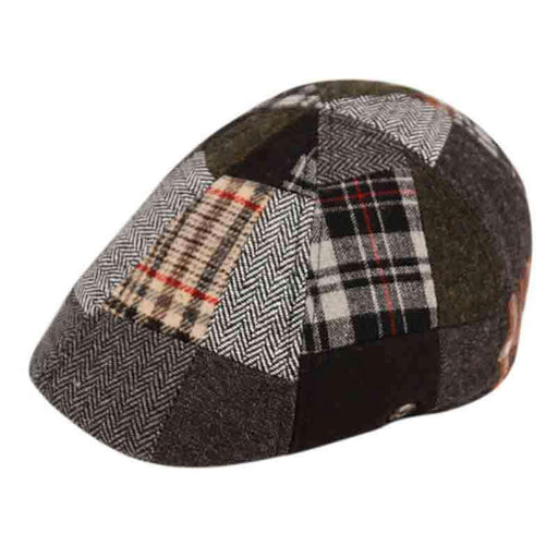Patchwork Wool Duckbill Cap - Epoch Hats