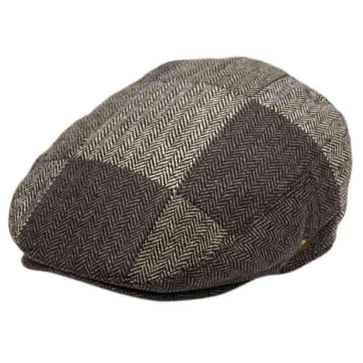 Herringbone Check Patchwork Wool Ivy Cap - Epoch