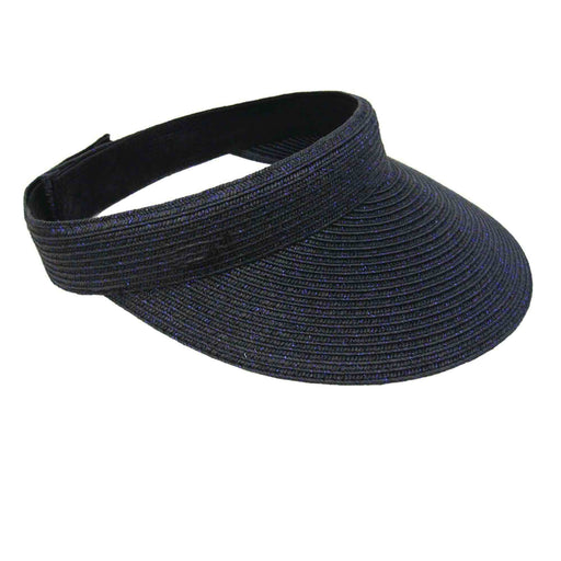 Iridescent Straw Braid Sun Visor - Dorfman Pacific Co.