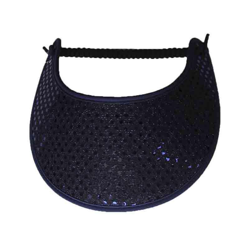 Navy Glitz Fabric-Foam Sun Visor