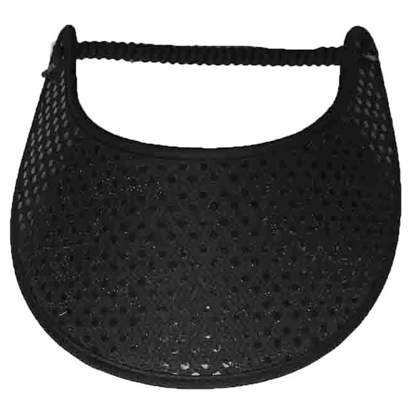 Black Glitz Fabric-Foam Sun Visor