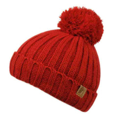 Kid's Knit Pom Pom Beanie with Shepra Lining