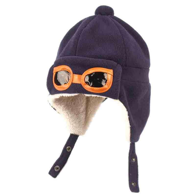Kid's Aviator Trooper Hat with Shepra Lining