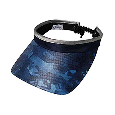 Blue Camo Golf Sun Visor with Coil Lace by GloveIt