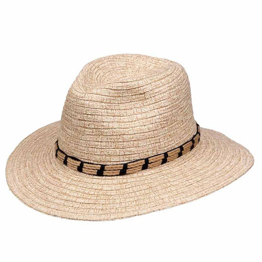 Karen Keith burnt distressed toyo straw safari hat rope band extra large size womens hats