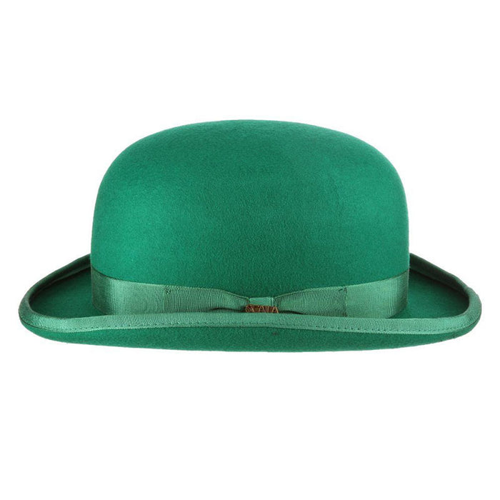 Kelly Green Stiff Bowler Derby Hat - Scala Hats for Men