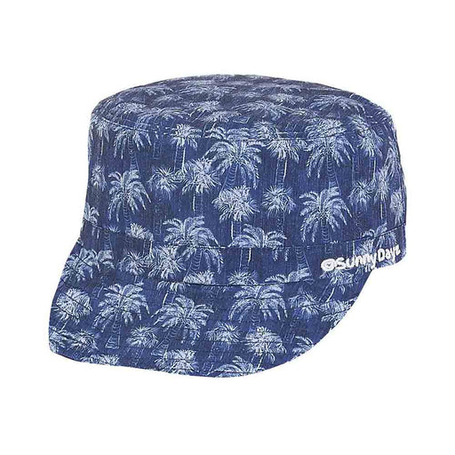 Kid's Cotton Cadet Cap with Palm Tree rint - Sunny Dayz™