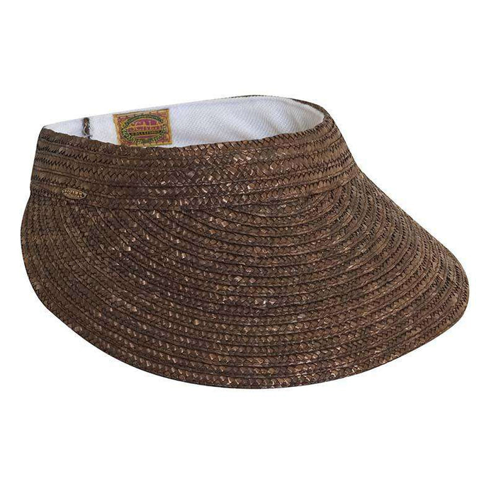 Braided Laichow Sun Visor - Neutral-Basic Colors by Scala - SetarTrading Hats