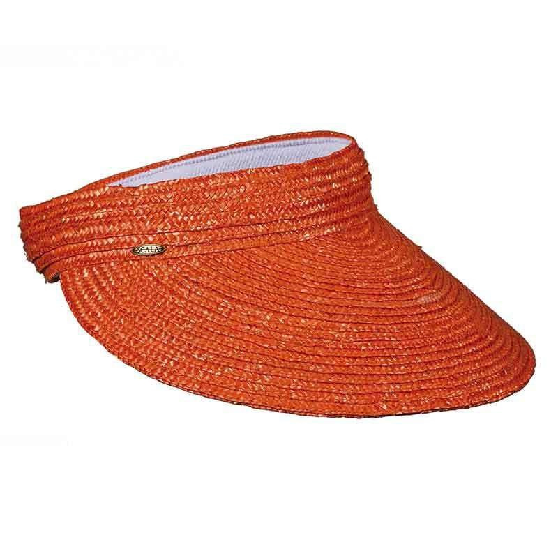 Braided Laichow Sun Visor - Bright-Fashion Colors by Scala - SetarTrading Hats