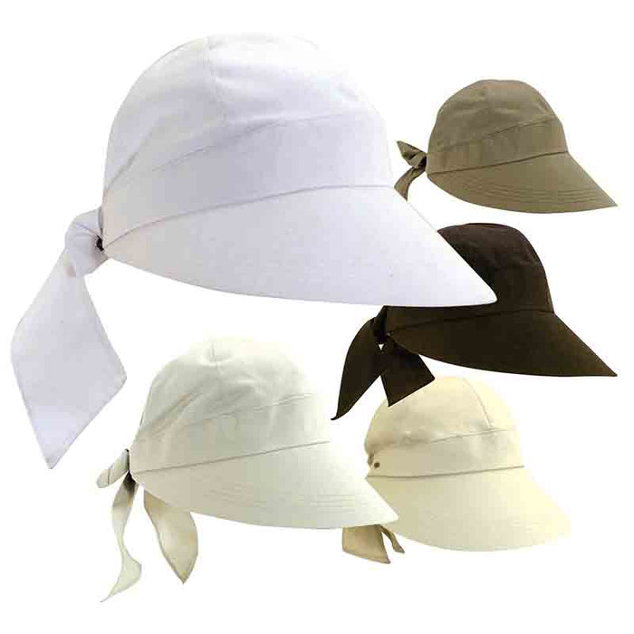 Cotton Facesaver Cap with Bow by Scala - SetarTrading Hats