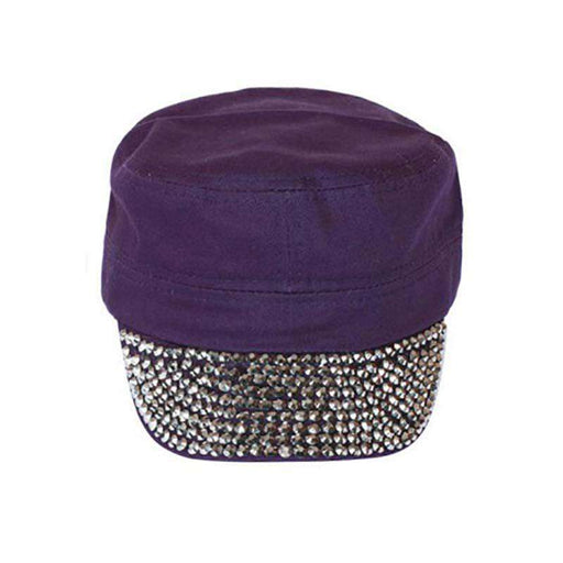 Studded Bill Cotton Cadet Cap