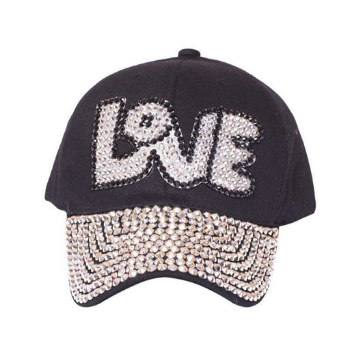 LOVE Bedazzled Studded Baseball Cap