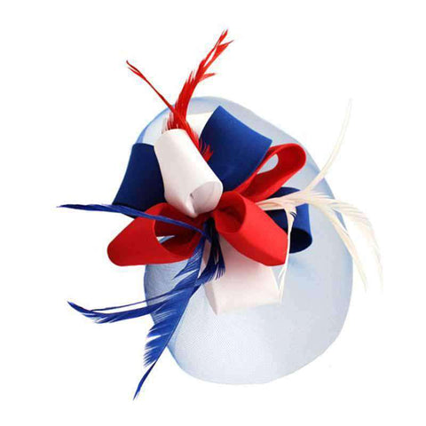 Americana Red White and Blue Fascinator Head Band