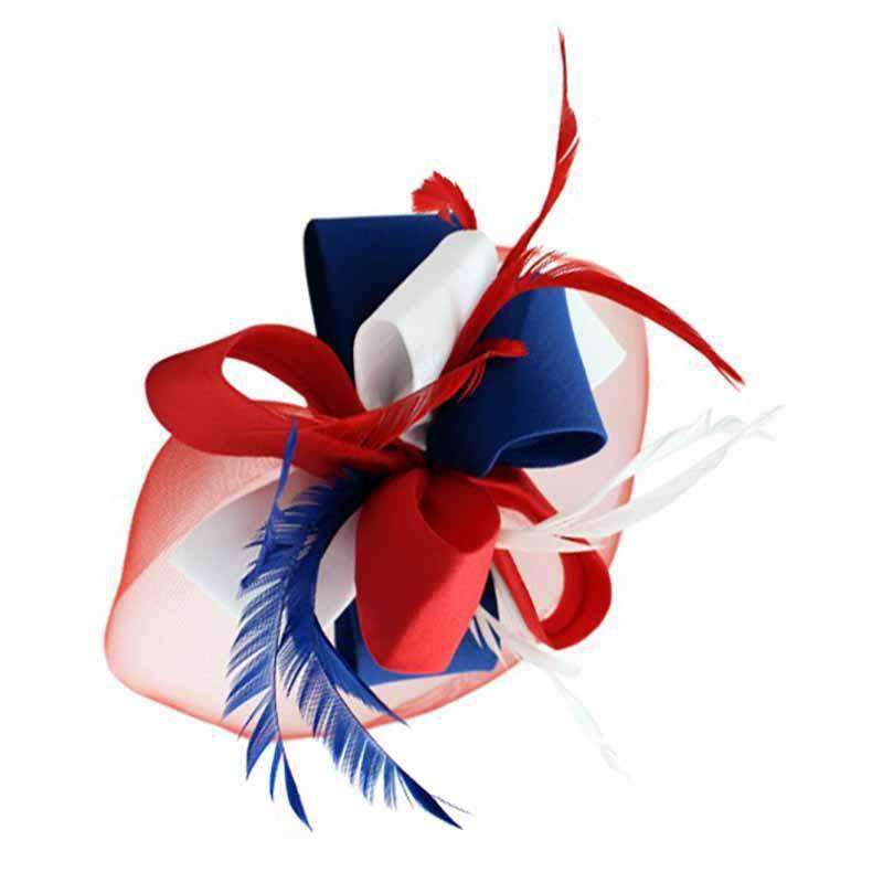 Americana Red White and Blue Fascinator Head Band - SetarTrading Hats