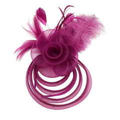Multi Hoop Fascinator with Rose - Something Special Collection