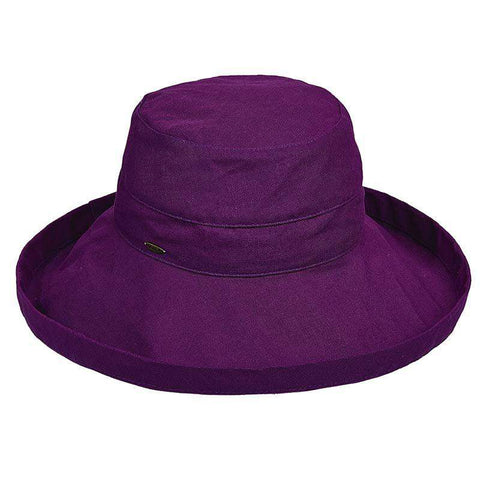 Scala Cotton Up Turned Large Brim Sun Hat