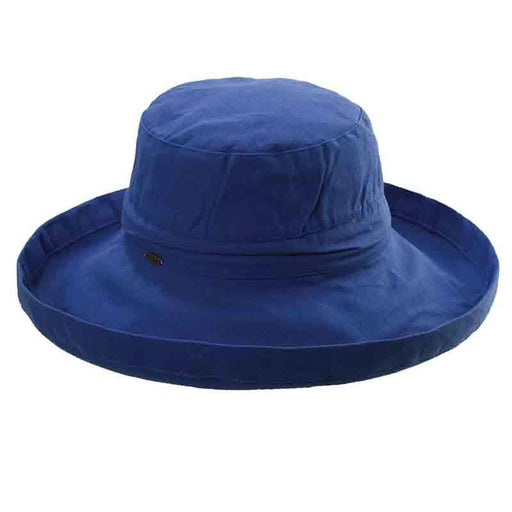 Cotton Up Turned Large Brim Sun Hat - Scala Hats for Women