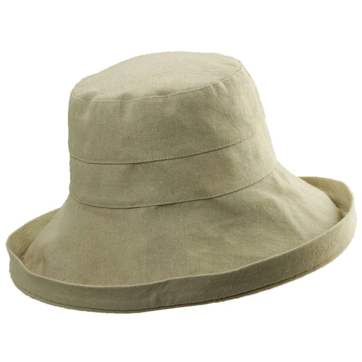 Up Turned Brim Linen Sun Hat in Neutral Colors - Tropical Trends - SetarTrading Hats