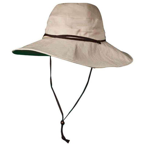 Linen Sun Hat with Chin Cord