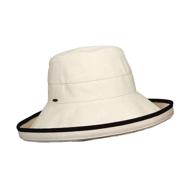 Canvas Breton with Contrast Trim - Scala Collezione - SetarTrading Hats