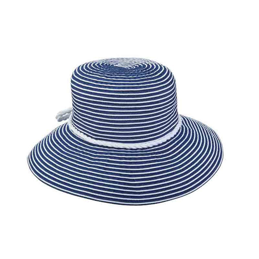 Nautical Striped Ribbon Summer Hat - Scala Collezione