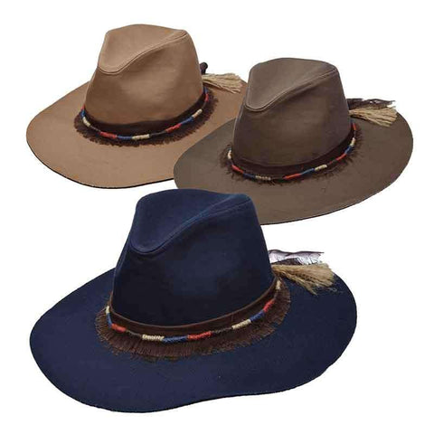 Canvas Safari Hat with Jute Band for Women by Scala Pronto