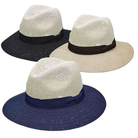 Knit Toyo Two Tone Safari Hat for Women - Scala Pronto