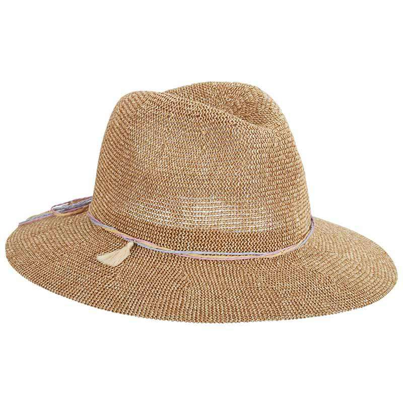 Tweed Knit Toyo Safari Hat with Tassel - Scala Pronto hat