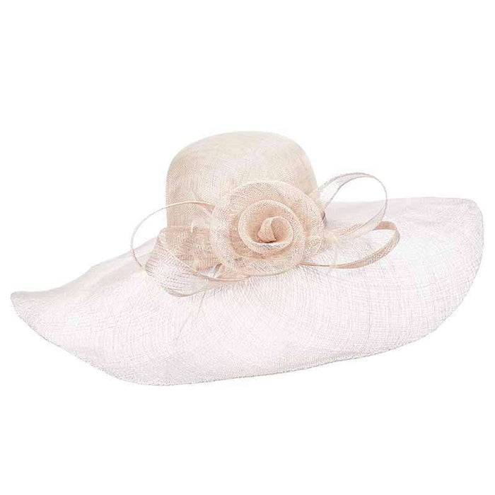 Sinamay Capeline Hat with Metallic Accent - Scala Hats