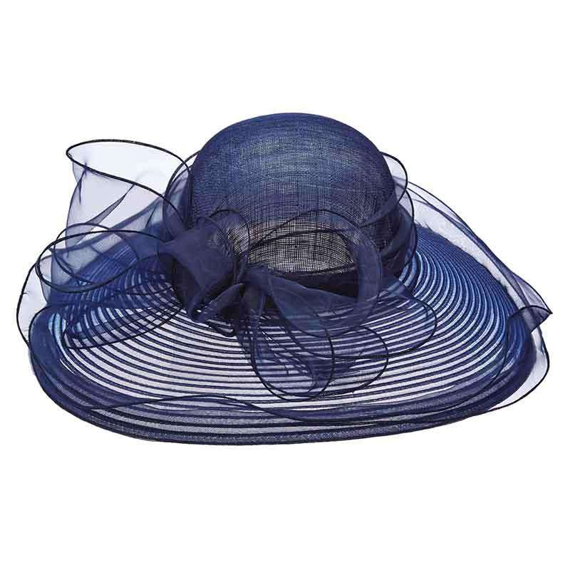 Sinamay and Crinoline Kentucky Derby Hat - Scala Collezion - SetarTrading Hats