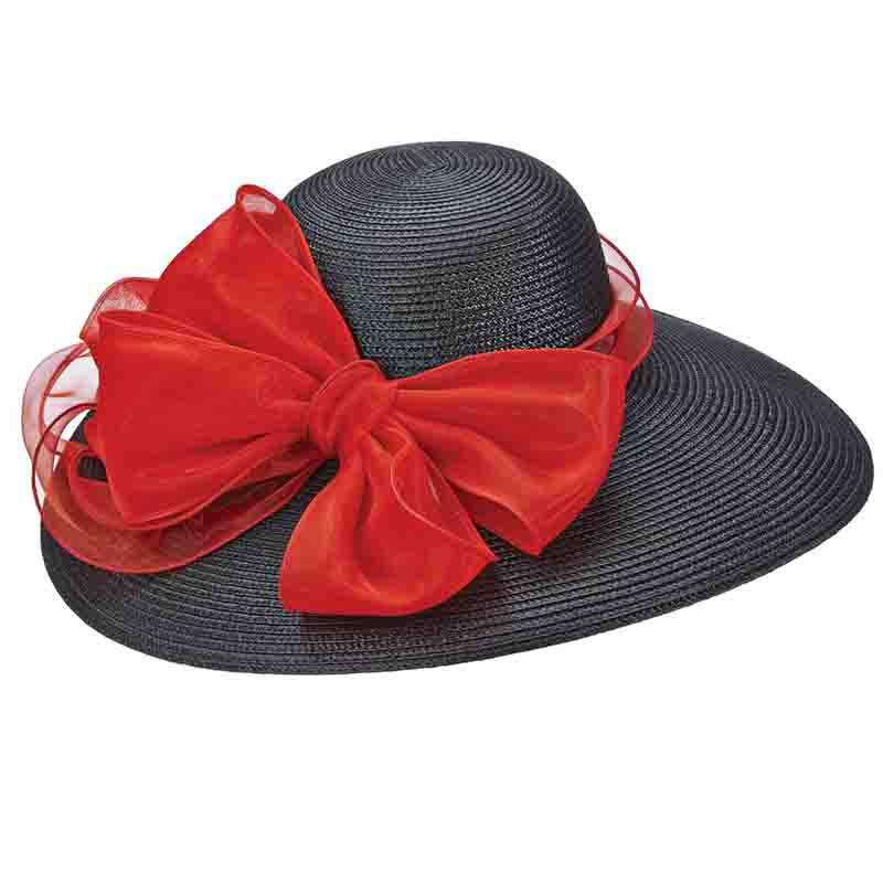 Capeline Hat with Large Organza Bow - Scala - SetarTrading Hats