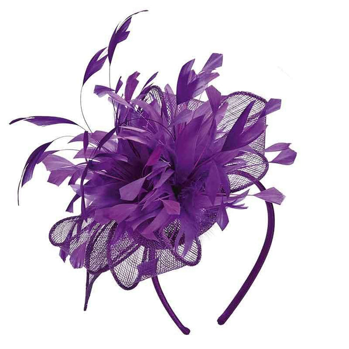 Sinamay Bow with Feather Burst Fascinator by Scala Collezion - SetarTrading Hats